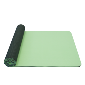 Podložka na jogu YATE yoga mat dvouvrstvá/zelená/materiál TPE, Yate