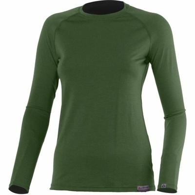 Dámské merino triko Lasting ATILA-6262 zelené