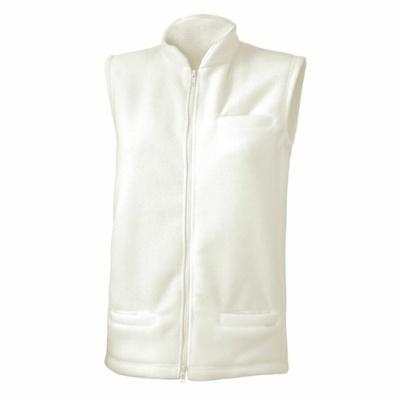 Dámská fleecová vesta Lasting NEMO-0101 bílá, Lasting