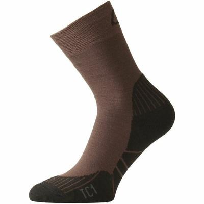 Ponožky funkční Lasting TC1-721 hnědé
