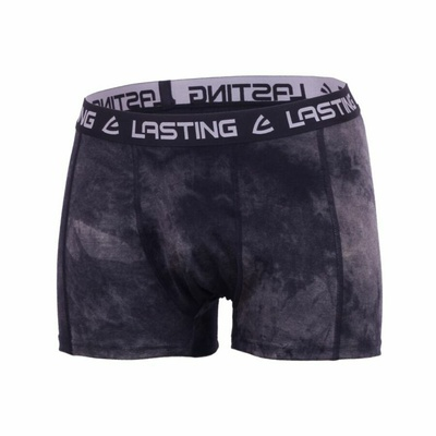Pánské merino boxerky Lasting BONO-9090 černé, Lasting