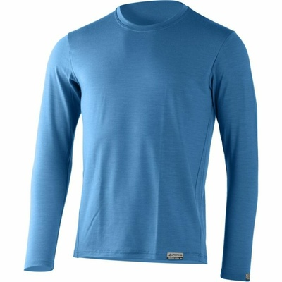 Pánské merino triko Lasting ALAN-5353 modré, Lasting