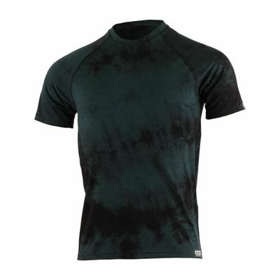 Pánské merino triko Lasting BOKOS-9090 černá batika