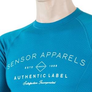 Pánské triko Sensor MERINO DF LABEL modrá 18200017, Sensor