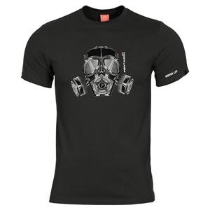 Pánské tričko PENTAGON® Gas mask černé, Pentagon