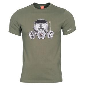 Pánské tričko PENTAGON® Gas mask olivově zelené, Pentagon
