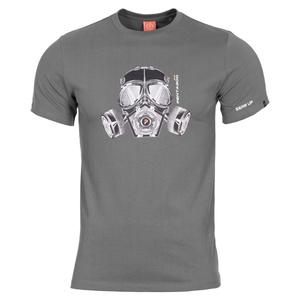 Pánské tričko PENTAGON® Gas mask wolf grey, Pentagon