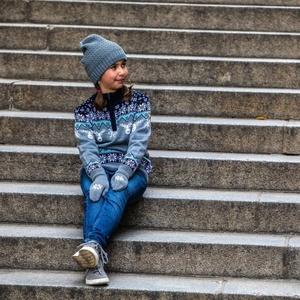 Dětská pletená Merino čepice Kama B77 109, Kama