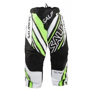 Brankářské kalhoty Salming Phoenix Goalie Pant SR White/GeckoGreen, Salming