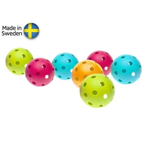 Sada florbalových míčků Salming Aero Ball 10-pack, colour mix, Salming