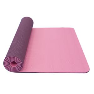 Podložka na jogu YATE yoga mat dvouvrstvá/růžová/fialová/materiál TPE, Yate