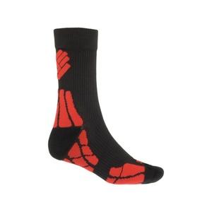 Ponožky Sensor Hiking New Merino Wool černá/červená 15200054