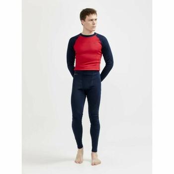 Set CRAFT CORE Warm Baselayer 1909709-396404 tmavě modrá s červenou, Craft