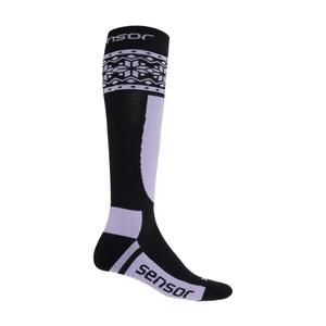 Ponožky Sensor THERMOSNOW NORWAY černá/fialová 17200090