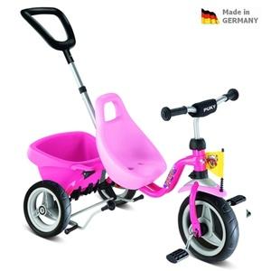 Dětská červená tříkolka Carry Touring Tipper CAT 1 S pink 2325, Puky