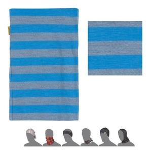 Šátek Sensor TUBE MERINO WOOL modrý pruhy 16200181, Sensor