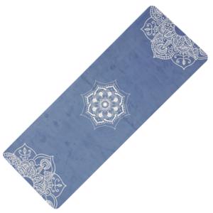 Podložka na jogu YATE yoga mat přírodni guma/vzor C/modrá, Yate