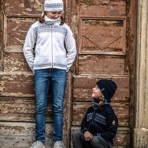 Dětská pletená Merino čepice Kama B76 100, Kama