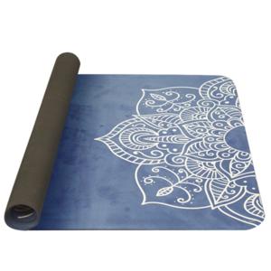 Podložka na jogu YATE yoga mat přírodni guma/vzor C/modrá